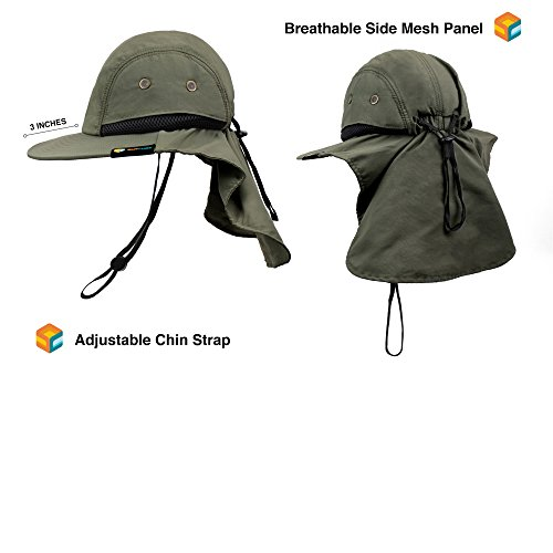 Jual SUN CUBE Fishing Sun Hat with Neck Cover Flap 16019063db13