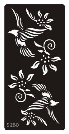 Beyond Paradise Mehndi Tatouage - Plantilla de tatuajes de henna para el cuerpo (uso único, tatuajes de henna/purpurina/aerógrafo) S280