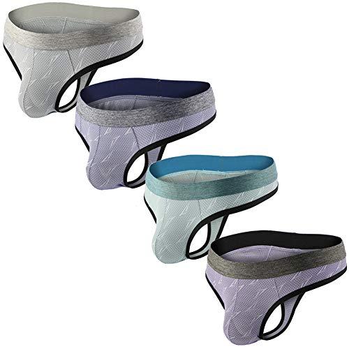 Summer Code Mens Mesh Thong Underwear Elastic Waistband T-Back Underwear Pack