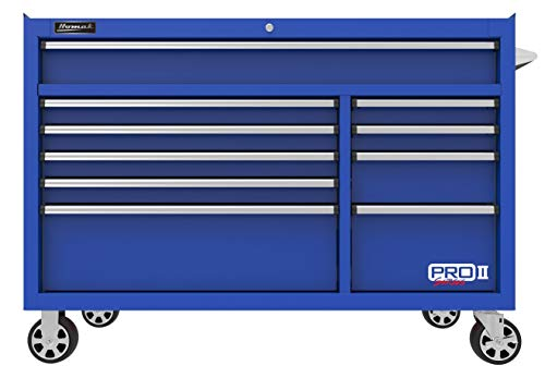 """Professional Storage Series Tool Chest (Homak PRO II Series 54"""" 10-Drawer Roller Cabinet, Blue, BL04054012)"""