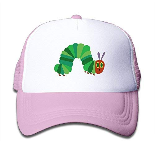 - antoipyns The Very Hungry Caterpillar Snapback Hat Adjustable Back Mesh Cap For Boy & Girl, Pink, One Size
