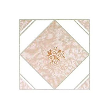 Home Dynamix Vinyl Tile, 12 by 12-Inch, Pink, Box of 30