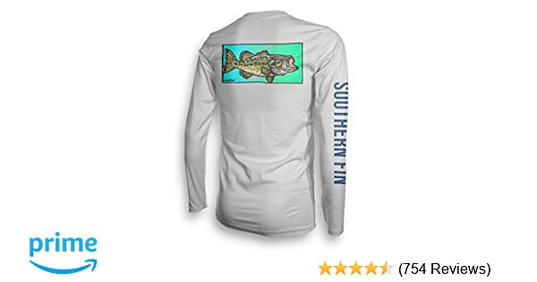 06c4b1f1b42 Amazon.com : Long Sleeve Fishing T-Shirt for Men and Women, UPF 50 Dri-Fit  Performance Clothing - Southern Fin Apparel : Clothing