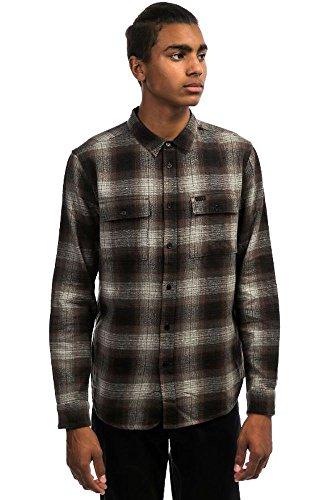 KR3W Ambush Button Up Flannel Grey Oxblood Men's Medium