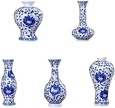 JWBOSS Ceramic Vases Blue-and-White Porcelain Desktop Accessories Vase