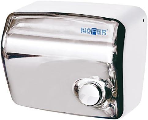 Nofer 01250.b Kai Secador de Manos con botón pulsador (Acero ...