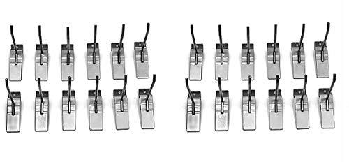 Proslat 13002 4-Inch Steel Hooks Designed for Proslat PVC Slatwall, 12-Pack (2-(Pack))