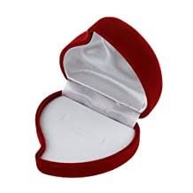 Ring box - SODIAL(R)1X Jewel Gift For Rose Ring Jewelry Box Heart Engagement Ring Box red 6x4x5.5cm