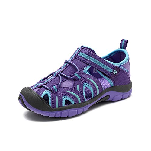 DREAM PAIRS Boys Girls 171112-K Lavender W.Blue Outdoor Summer Sandals Size 9 M US Toddler ()