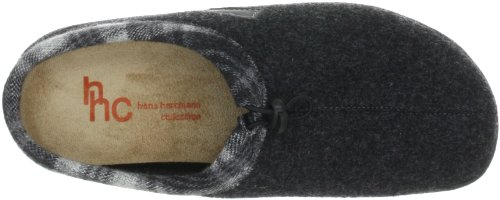 Hans Herrmann Collection HHC 180203-11 - Pantuflas de fieltro unisex Negro