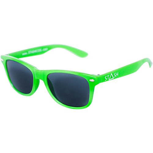 STASH Child Sunglasses for Your Kids - Perfect Size for Children (Green) (Girls Police Outfit)