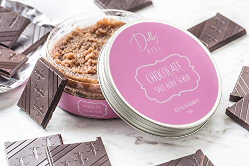 Dolly Piel Chocolate Body Scrub – Face, Body & Foot Scrub – Salt Body Scrub – Body Scrub for Women & Men – Great Gifts…