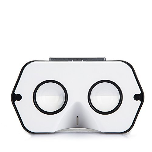 Newly Improved DSCVR Virtual Reality Viewer for iPhones and Android smartphones - Inspired by Google Cardboard 2.0 - Google WWGC certified VR viewer (Black) by I AM CARDBOARD® (Image #2)
