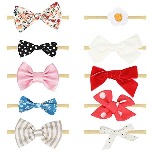 COUXILY Baby Girl Headbands and Bows Newborn Infant Toddler Hair Accessories (09) (Old 09 Body)