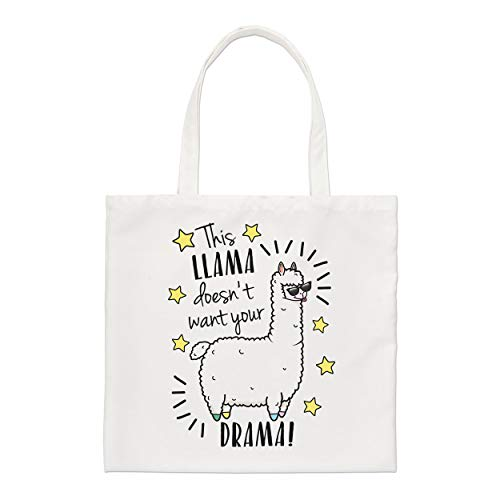 This Llama Doesn't Want Your Drama Small Tote Bag