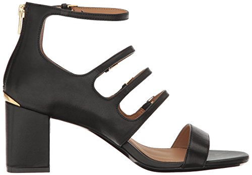 US Medium 9 Black Sandal Heeled Klein Womens Calvin caz qR7w68