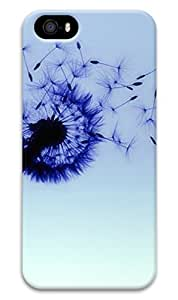 Online Designs Dandelion Purple falling PC Hard new For Iphone 5/5S Phone Case Cover
