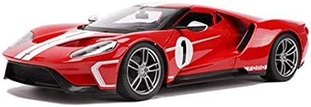 YN モデルカー モデルカーフォードGTスポーツカーモデル1:18スケールモデルダイキャストモデル玩具モデルスタティックモデルコレクション家の装飾明るい赤 ミニカー