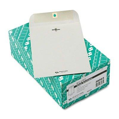 Quality Park Clasp Envelope, 6 1/2 x 9 1/2, 28lb, Executive Gray, 100/Box