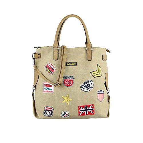 OBC Only-Beautiful-Couture - Bolso al hombro para mujer beige beige ca.: 47x40x19 (BxHxT) beige