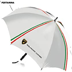 Lamborghini Squadra Corse White Compact Umbrella