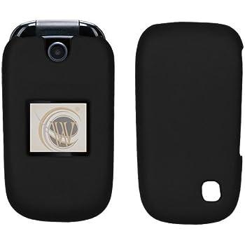 AT&T ZTE Z221 Rubberized Hard Case Cover - Black