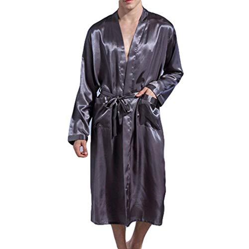 Hombres Pijamas La Estilo Bata Bobolily Verano Albornoz Lujo Grau Longitud Los Elegante Primavera Rodilla Suave De Especial Vestimenta Y Baño Lmit wwta1qf