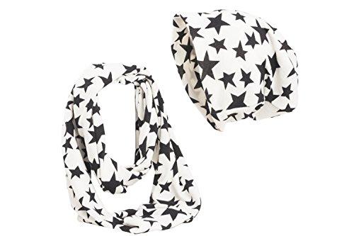 Con braga y Negras de Shenky Conjunto Estrellas gorro Blanco w7qgInYtpx