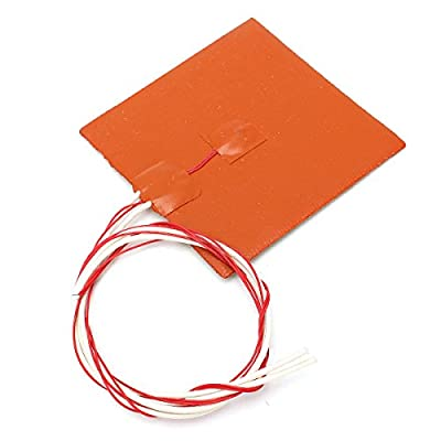 ILS - 120x120mm 12V 120W Silicone Heater Pad 3D Printer Heated Bed Heating Mat