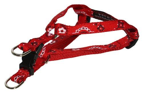 Sassy Dog Wear 8-16-Inch Red Bandana Dog Harness, X-Small, My Pet Supplies