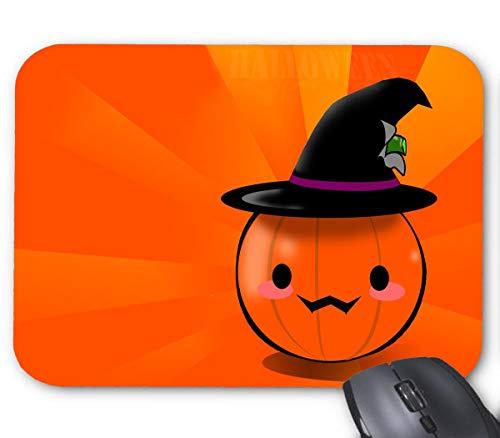 (Cute Happy Halloween Pumpkin Clipart Mouse Pad 9.8 X 7.8)
