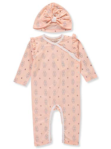 Jessica Simpson Baby Girls' Coverall Cap