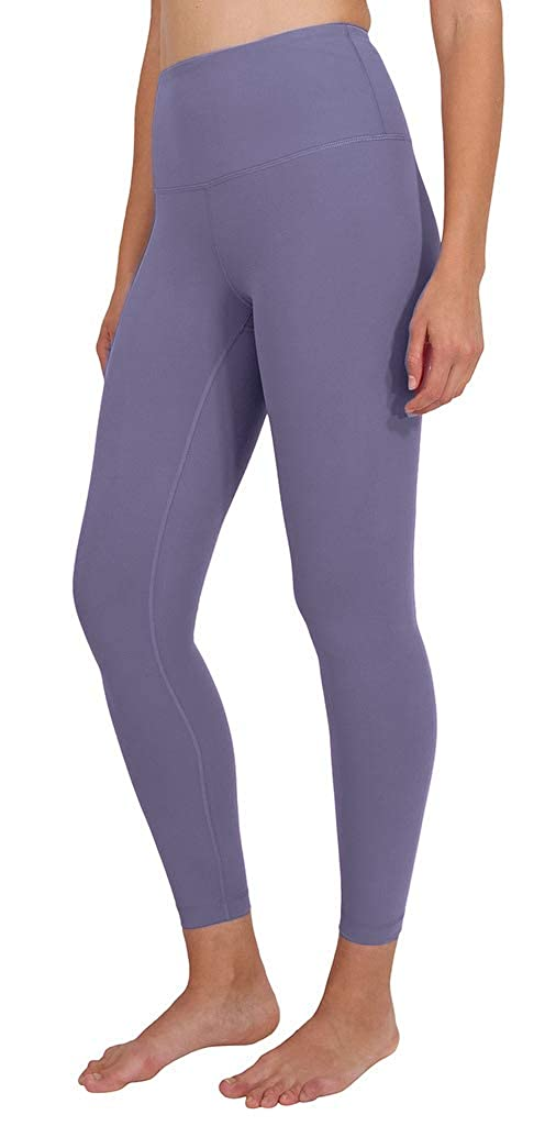 Lavender Night Ankle Length Yogalicious High Waist Ultra Soft Lightweight Leggings   High Rise Yoga Pants