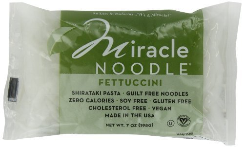 Miracle Noodle Shirataki Zero Carb, Gluten Free Fettuccini, 7 Ounce (Pack of 6)