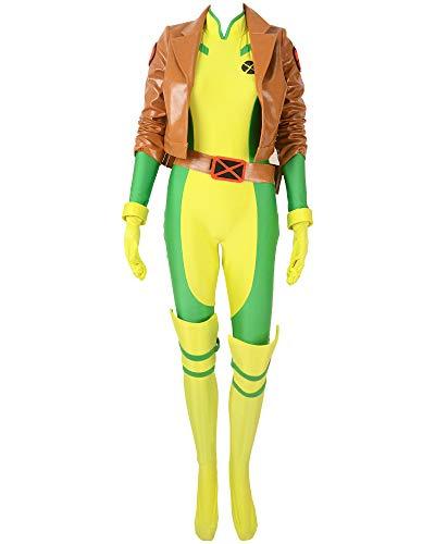 miccostumes Women's Rogue Cosplay Costume (WL) Brown ()