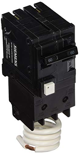 Siemens QF260A 60 Amp, 2 Pole, 120/240V Ground Fault Circuit Interrupter with Self Test and Lockout Feature (Renewed)