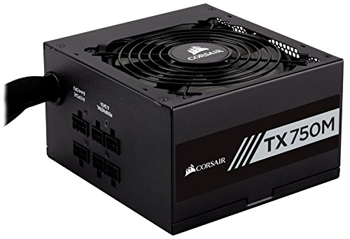 CORSAIR TXM Series, TX750M, 750 Watt, Semi Modular Power Supply, 80+ Gold Certified by Corsair