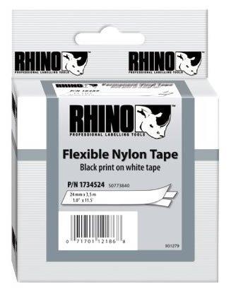 Rhino Labelers - RHINO (LABELER) 1734524 RHINO 1 WHITE NYLON LABELS