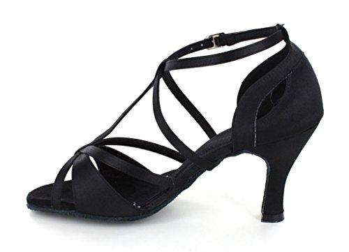 Tda Kvinners Trendy Design Ankelen Wrap Salsa Tango Ballroom Latin Strappy Danse Sandaler Svart