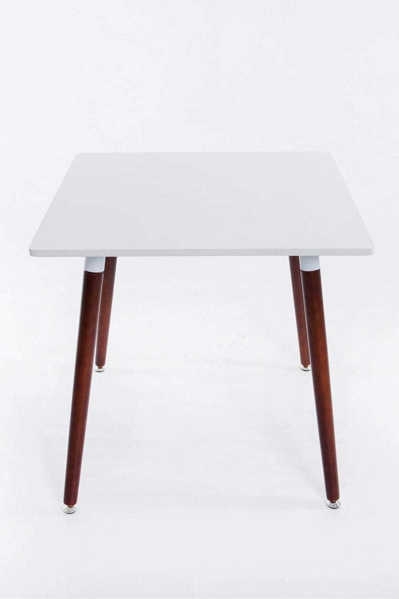 CLP ESS Tisch BENTE, quadratisch 80 x 80 cm, Höhe 75 cm, 4 Holz Beine mit Bodenschoner, Farbe:Cappuccino