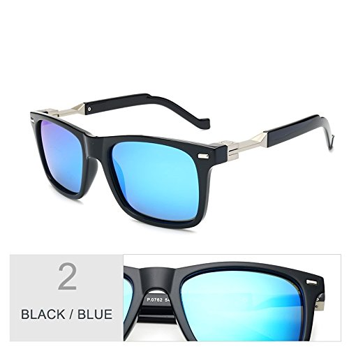 Black Para Conducción Blue Gafas Polarizadas Hombre Brown Gafas Square Brown Fashion TIANLIANG04 awnvZ7xFw