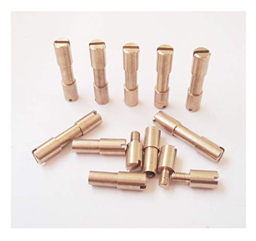 Handle Brass Rivet - EDC Knife Fasteners Rivets,Knifemakers Corby Screws,DIY knife handle stud - 10 sets (brass, 0.2