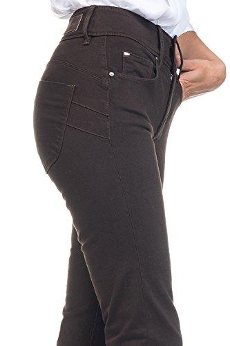 SALSA Pantalón Secret Push in color Marrón