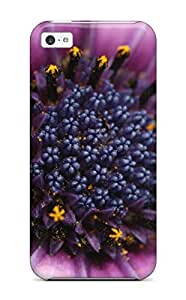 Cute High Quality Iphone 5c Closeup Purple Flower Case by icecream design