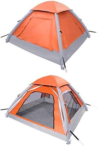 DWJ-Z Tienda de campaña Inflable, Acampar 3-4 Personas al Aire Libre a Prueba de Viento Impermeable Playa Turismo Pesca portátil