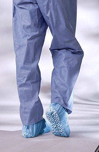 Large Pro Series - Medline NON28858Z Non-Skid Pro Series Multi-Layer Shoe Covers, Latex Free, Regular/Large, Blue (Pack of 100)