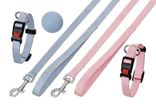Karlie Flamingo 69889 Puppy Set Halsband mit Leine - 15 mm x 20-40 cm + 15 mm x 120 cm, rosa