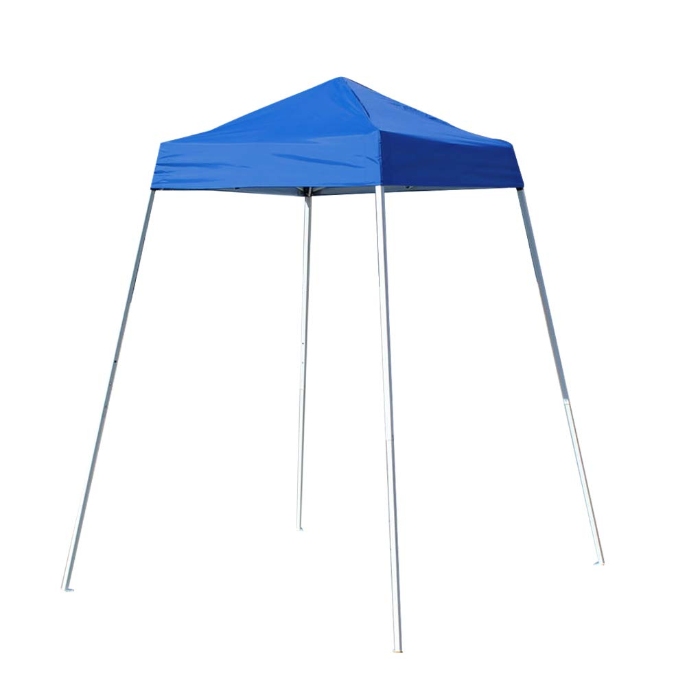 American Phoenix 5x5 Multi Color [Slant Leg][White Frame ] Light Weight Portable Event Canopy Tent. Shade Commercial Party Canopy Tent Easy Pop Up (Blue)
