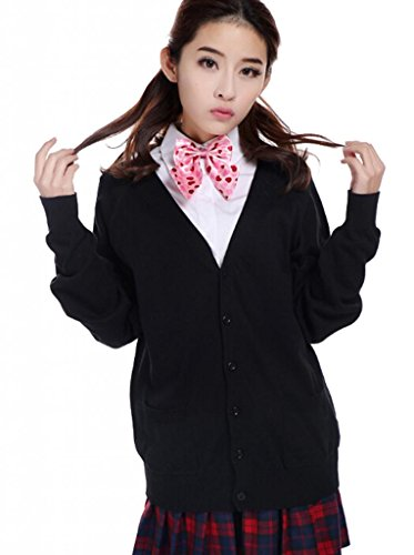 Lemail Wig Sweet Japanese Students School Uniforms Black