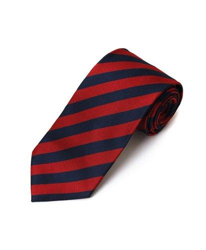 Burgendy & Navy School College Tie Woven Stripe Tie , 57